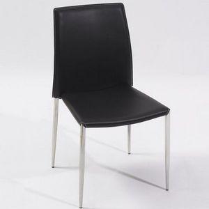 LE RÊVE CHEZ VOUS - nouveauté ! chaise de séjour design noire pieds en - Chaise