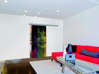 Mantion - personnalisez votre porte gr�ce � une photo, logo - Porte De Communication Vitr�e