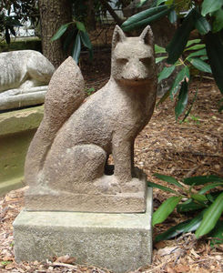 BARBARA ISRAEL GARDEN ANTIQUES - terra-cotta fox - Sculpture Animalière