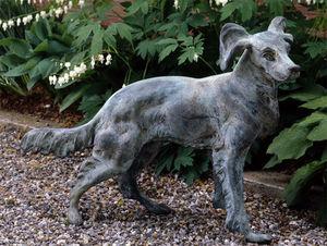 BARBARA ISRAEL GARDEN ANTIQUES - french bronze dog - Sculpture Animalière