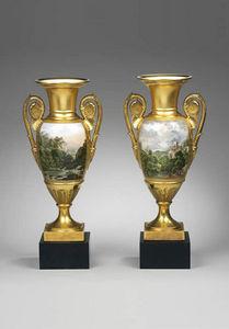 F P FINE ART - porcelain oviforme vases - Vase Décoratif