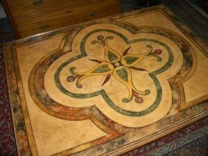 Antiquités Anne & Thierry - table basse - Table Basse Avec Plateau