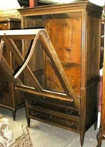 Antiquit�s ARVEL - lii encastr� dans secretaire louis xvi - Lit Escamotable