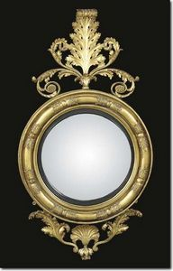 CHAPPELL & MCCULLAR - regency giltwood and ebonised convex mirror - Miroir