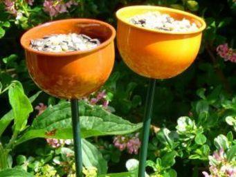 Wildlife world - colour cup feeder metal orange - Mangeoire À Oiseaux