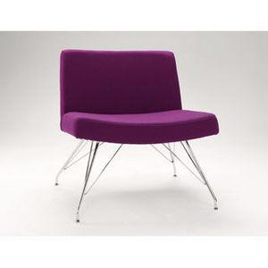 Country Seat - nara chair bright chrome frame - Chaise