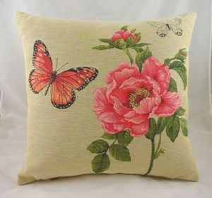 Evans Lichfield - 18 butterfly rose cushion - Coussin Carré