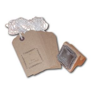 The English Stamp Company - gifts tags - pack of 25 buff - Etiquette Décorative