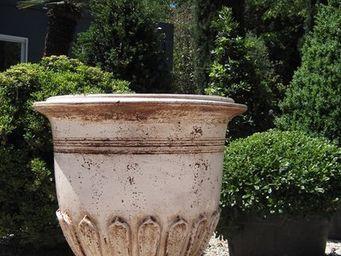 PLANTERS-CONTACT-PROVENCE - vase geant nymphea ivoire - Vase D'anduze