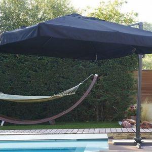 LE RÊVE CHEZ VOUS - parasol carré 3x3 m en aluminium - Parasol Excentré