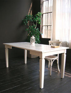 BLEU PROVENCE - lavande blanc - Table À Rallonge