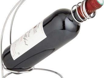 BARCLER - porte-bouteille de table en métal chromé 18x15x24c - Panier Verseur
