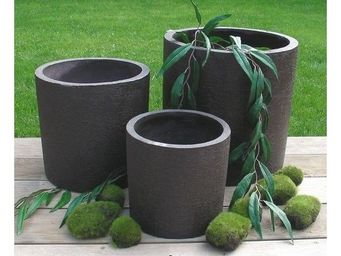Deco Factory - cache-pot cylindrique natur � 28 cm - Cache Pot