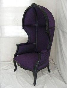 DECO PRIVE - fauteuil violet carrosse mariage velours - Fauteuil Carosse