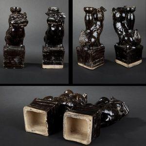 Expertissim - paire de chimères. chine, xviie siècle - Porte Encens