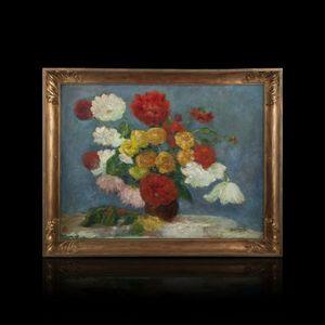Expertissim - jean deville (1872-?). bouquet de pivoines - Tableau Décoratif
