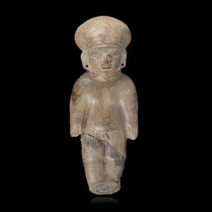 Expertissim - equateur. statuette masculine en terre cuite - Objet D'art Pr�colombien
