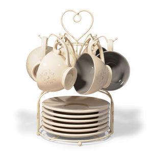 Maisons du monde - support 6 tasses et soucoupes corazon - Coupelle
