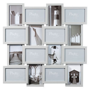 Maisons du monde - cadre 16 vues relief gris - Cadre Multi Vues