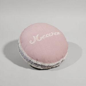 MAISONS DU MONDE - coussin macaron - Coussin Forme Originale