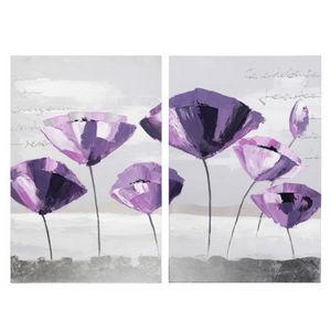 Maisons du monde - diptyque fleurs alexia - Tableau Décoratif