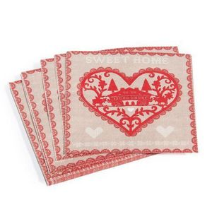 Maisons du monde - assortiment de 12 sets de table sweet home - Serviette En Papier