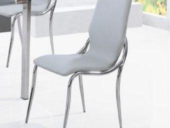 CLEAR SEAT - chaises kiss gris lot de 6 - Chaise Visiteur