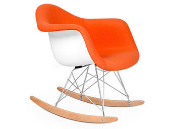 Privatefloor - rocking chair rar - simili cuir - coque blanche - Rocking Chair