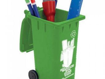 Manta Design - pot à crayons design poubelle - Pot À Crayons