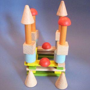 LITTLE BOHEME - sac de cubes personnalisé vroum - Jouets Empilables