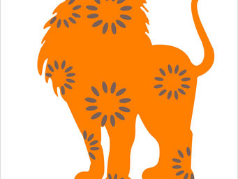 LILI POUCE - stickers l�on le lion l�on - Sticker D�cor Adh�sif Enfant