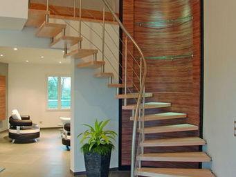 Cr�ateurs d'Escaliers Treppenmeister - �pura - Escalier Un Quart Tournant