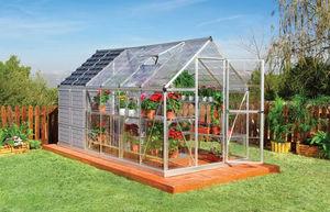 Chalet & Jardin - serre avec abri intégré 6,7m² en polycarbonate et  - Serre