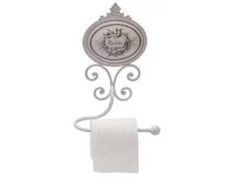 Antic Line Creations - d�rouleur papier wc d�cor ange - Distributeur Papier Toilette