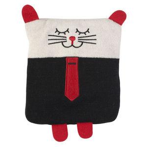 La Chaise Longue - bouillotte tricot chat boy en coton 20x18x2cm - Peluche