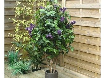 Deco Factory - lilas artificiel violet en pot agatha150 cm - Arbre Artificiel