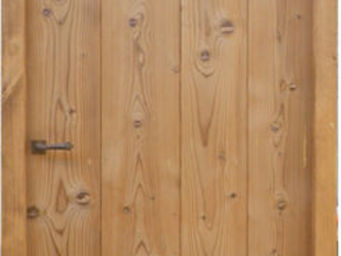 Portes Anciennes - modèle à lames verticales en pin thermotraité - Porte De Communication Pleine