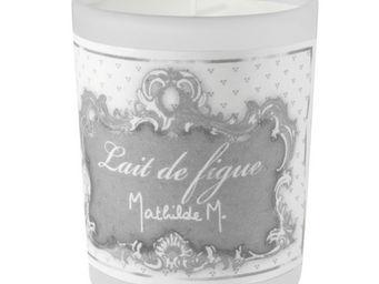 Mathilde M - bougie verre givr�, parfum lait de figue - Bougie Parfum�e
