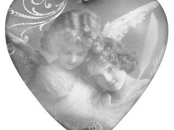Mathilde M - sulfure coeur plumes d'anges - Presse Papier