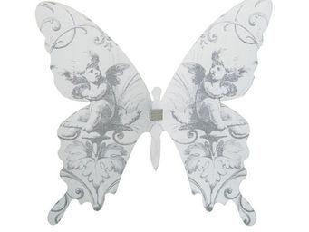 Mathilde M - papillon � pince volutes - D�cor �v�nementiel