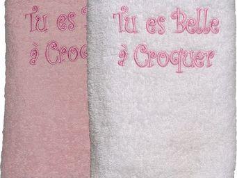 SIRETEX - SENSEI - drap douche 70x140 cm belle a croquer - Serviette De Toilette Enfant