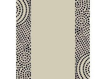 SIRETEX - SENSEI - drap de plage velours bicolore 440 gr/m� beige/noi - Drap De Plage