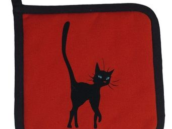 SIRETEX - SENSEI - manique imprim� chat smart rouge - Manique