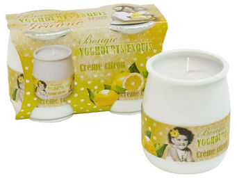 Orval Creations - bougies yoghourts exquis parfum�es cr�me citron - Bougie Parfum�e