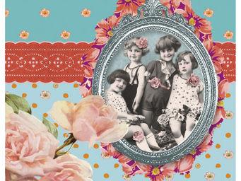 Orval Creations - dessous-de-plat portrait de famille - Dessous De Plat