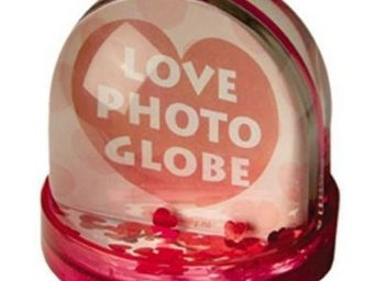 Present Time - cadre photo globe neige coeur - Cadre Photo