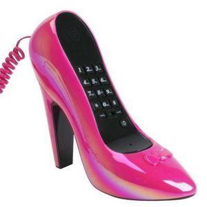 Present Time - téléphone talon rose - Téléphone Décoratif