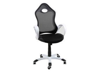 ACHATDESIGN - chaise de bureau rey blanc - Chaise De Bureau