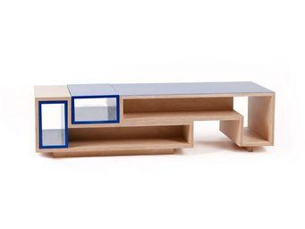MALHERBE EDITION - table basse m�lo m�lo double - Table Basse Forme Originale