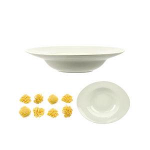 WHITE LABEL - assiette pasta ovale en c�ramique - Assiette � Spaghetti